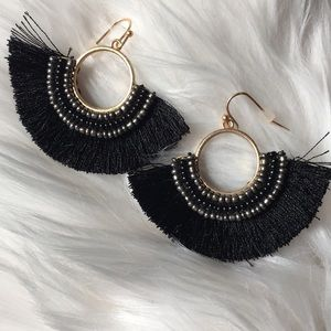 Fringe Beaded Earrings